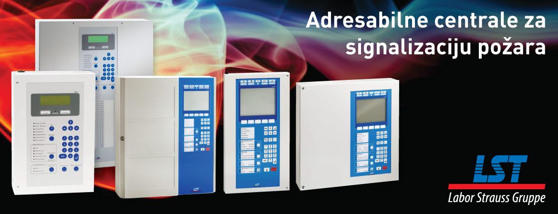 LST adresabilne centrale za signalizaciju požara